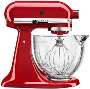 KSM105GBC 5 qt. Stand Mixer with Glass Bowl & Flex Edge Beater Kitchenaid Stand Mixer