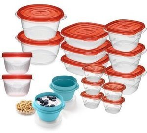 Rubbermaid TakeAlongs Rectangle Food Storage Set, 36-Piece