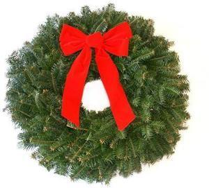 22-in Fresh Fraser Fir Christmas Wreath