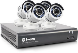 Swann Analog Wired Outdoor 4 Security Camera Kit with Night Vision