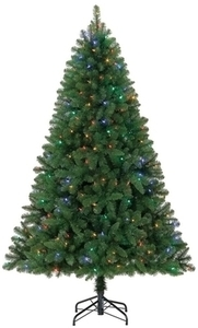 Holiday Living 6.5-ft Pre-lit Seneca Pine Artificial Christmas Tree with 250 Color Changing LED Lights