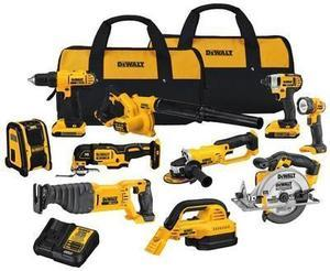DEWALT 10-Tool 20-Volt Lithium Ion (Li-ion) Cordless Combo Kit with Soft Case