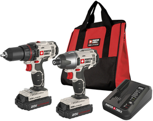 PORTER-CABLE 2-Tool 20-Volt Max Lithium Ion Cordless Combo Kit with Soft Case