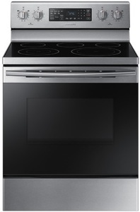 Samsung Smooth Surface Freestanding 5-Element 5.9-cu ft Self-Cleaning Convection Electric Range (Stainless steel) (Common: 30-in; Actual: 29.875-in)