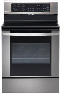 LG Smooth Surface Freestanding 5-Element 6.3-cu ft Convection Electric Range