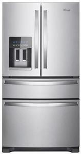 Whirlpool 24.5-cu ft 4-Door French Door Refrigerator with Ice Maker