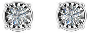 0.45 CT. T.W. Diamond Earrings in 14K White Gold