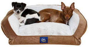 "Serta Perfect Sleeper Memory Foam Blend Couch Pet Bed, 24"" x 20"" (Choose your Color)"