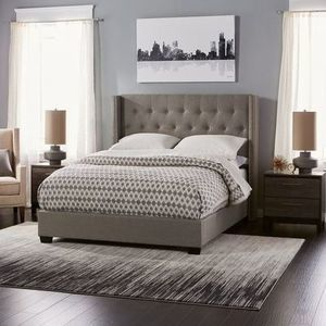 Overstock.com: Online Shopping - Bedding, Furniture, Electronics, Jewelry, Clothing & more Diamond Tufted Wingback Bed