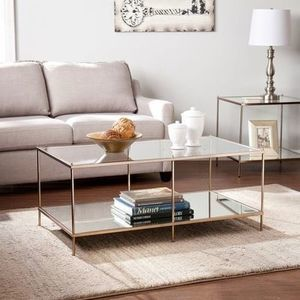 Harper Blvd Glass-Top Coffee Table