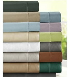 Sateen Cotton Blend Deep Pocket Sheet Set
