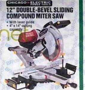 Chicago Electric 12' Double-Bevel Sliding Compound Miter Saw