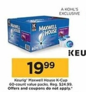 Keurig Maxwell House K-Cup 60-Count Value Packs