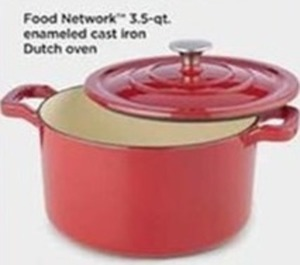 Food Network 3.S Qt Enameled Cast Iron Dutch Oven (After Rebate)