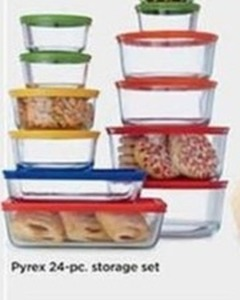 Pyrex 24 Piece Storage Set (With Rebate)