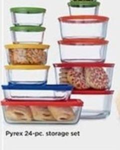 Pyrex 24 Piece Storage Set (With Rebate)
