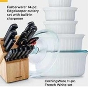 CorningWare 11 Piece French White Set (With Rebate)