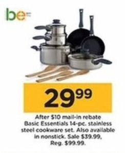 Basic Essentials 14 Piece Nonstick Cookware Set
