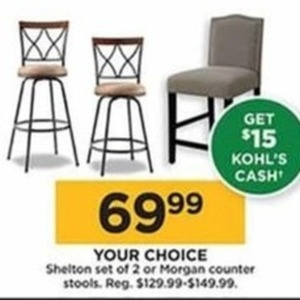 Morgan Counter Stools + $15 Kohl's Cash
