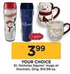 St. Nicholas Square Mugs & Thermals