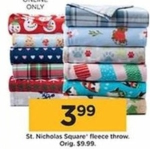 St. Nicholas Square Fleece Throw