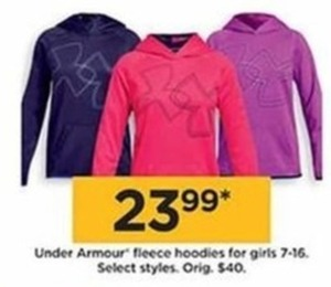 Under Armour Fleece Hoodies For Girls