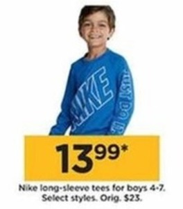 Nike Long-Sleee Tees for Boys