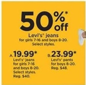 Girls' Levi's Jeans Select Styles