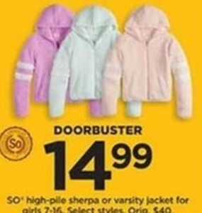 So High-Pile Sherpa or Varsity Jacket for Girls