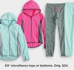 GIrls SO Microfleece Tops or Bottoms