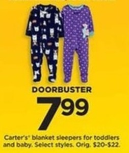 Carter's Blanket Sleepers for Toddlers and Baby