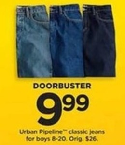 Boys Urban Pipeline Classic Jeans