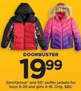 ZeroXposur and SO Puffer Jackets for Boys and Girls
