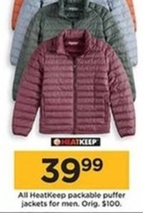 HeatKeep Packable Puffer Jackets for Men