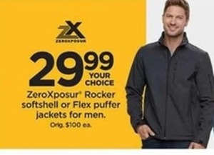 Men's ZeroXposur Rocker Softshell or Flex Puffer Jacket