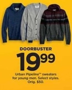 Urban Pipeline Sweaters for Young Men