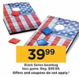 Black Series Beanbag Toss Game