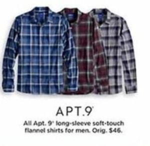 Apt. 9 Long-Sleeve Soft-Touch Flannel Shirts for Men