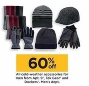 Men's Cold Weather Accessories By Apt 9, Tek Gear and Dockers