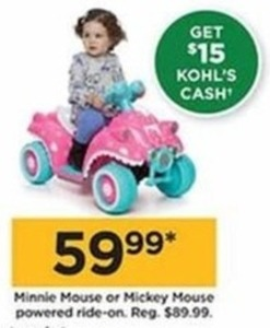 Minnie & Mickey Mouse Powered Ride-On (Get $15 Kohl's Cash)