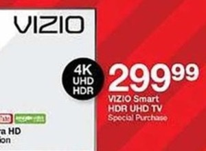 Vizio Smart HDR UHD 4K TV