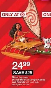 Disnoy Moana Starlight Canoe And Friends