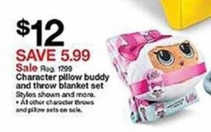 Character Pillow Buddy & Throw Blanket Set
