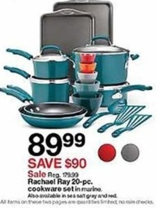 Rachel Ray 20-pc. Cookware Set