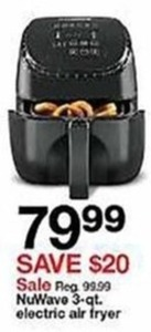 NuWave 3-Qt Electric Air Fryer