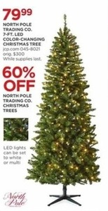 North Pole Trading Co. 7-Ft. LED Color Changing Christmas Tree