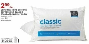 Home Expressions Classic Standard/Queen Pillow
