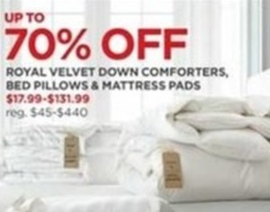 Royal Velvet Down Comforters Bed Pillows Mattress Pads