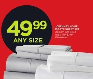 JCPenney Home 1500TC Sheet Set