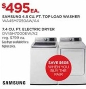 Samsung Washer or Electric Dryer